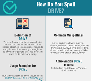 Correct spelling for drive