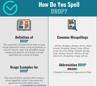 Correct spelling for drop
