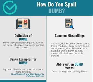 Correct spelling for dumb