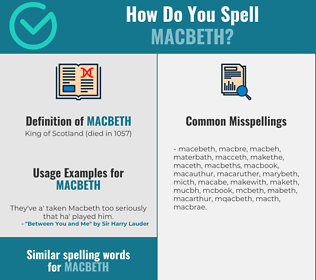 Correct spelling for macbeth