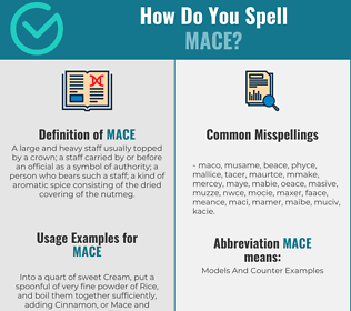 Correct spelling for mace