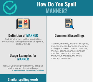 Correct spelling for manner