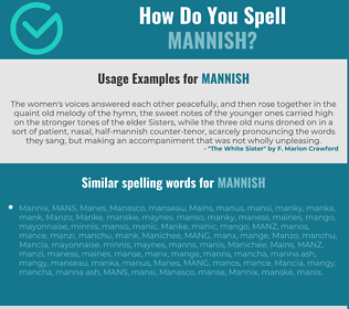 Correct spelling for mannish