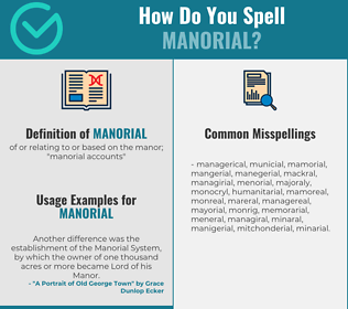 Correct spelling for manorial