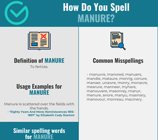 Correct spelling for manure