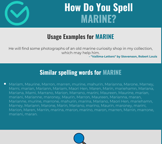 Correct spelling for marine