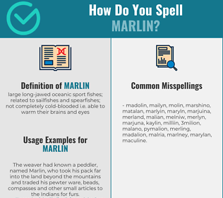 Correct spelling for marlin