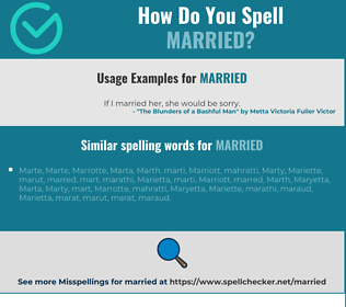 Correct spelling for married