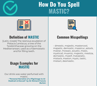 Correct spelling for mastic