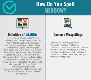 Correct spelling for meadow