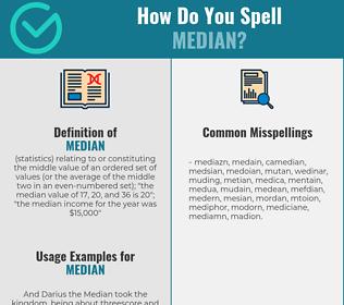 Correct spelling for median