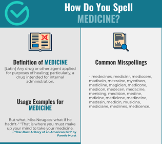Correct spelling for medicine