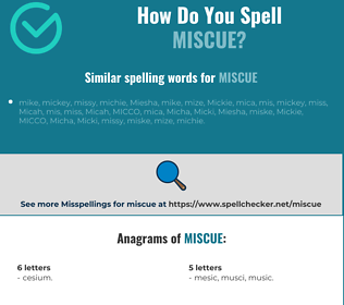 Correct spelling for miscue