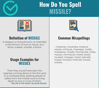 Correct spelling for missile