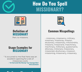 Correct spelling for missionary