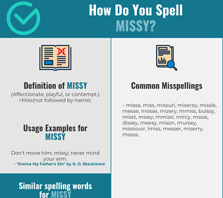 Correct spelling for missy