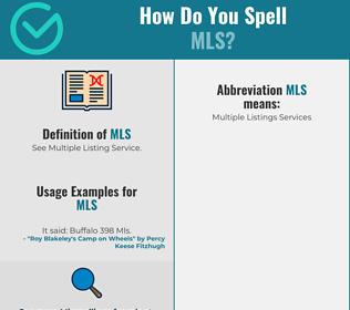 Correct spelling for mls