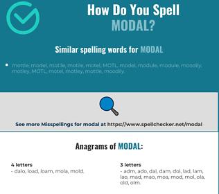 Correct spelling for modal