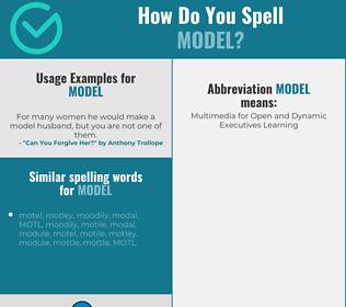 Correct spelling for model