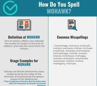 Correct spelling for mohawk