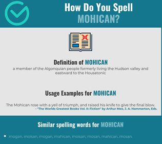 Correct spelling for mohican