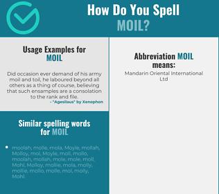 Correct spelling for moil