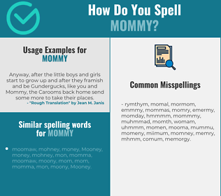 Correct spelling for mommy
