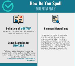Correct spelling for montana