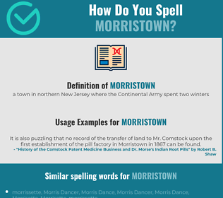Correct spelling for morristown