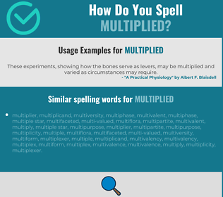 Correct spelling for multiplied