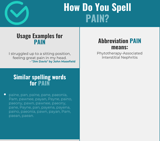 Correct spelling for pain
