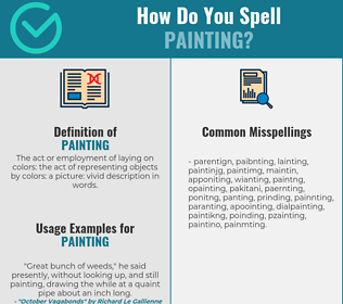 Correct spelling for painting