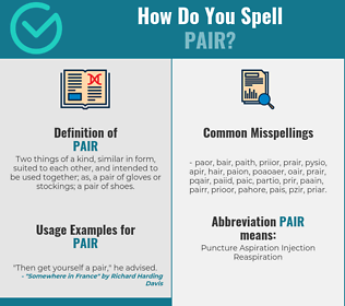 Correct spelling for pair