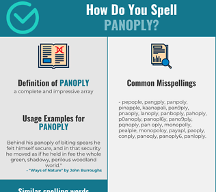Correct spelling for panoply