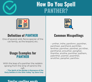 Correct spelling for panther