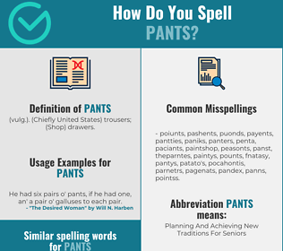Correct spelling for pants