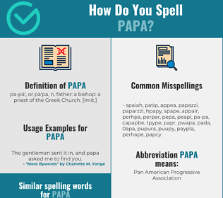 Correct spelling for papa
