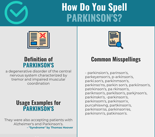 Correct spelling for parkinson's