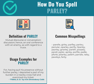 Correct spelling for parley