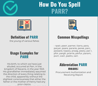 Correct spelling for parr