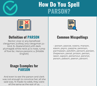 Correct spelling for parson