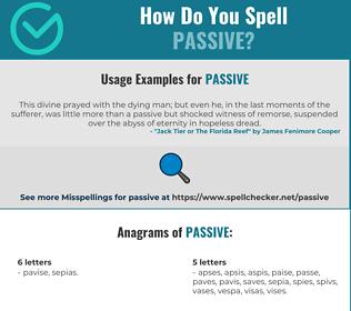 Correct spelling for passive
