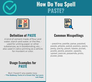 Correct spelling for paste