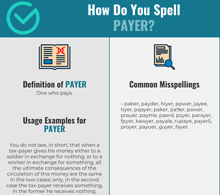 Correct spelling for payer