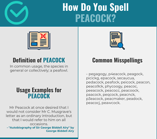 Correct spelling for peacock