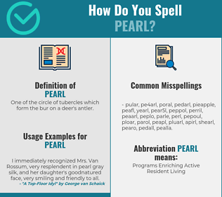 Correct spelling for pearl