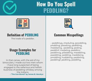 Correct spelling for peddling