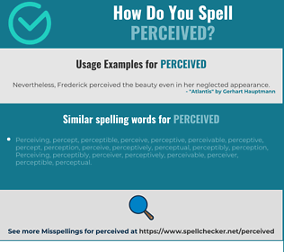 Correct spelling for perceived