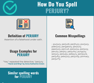 Correct spelling for perjury