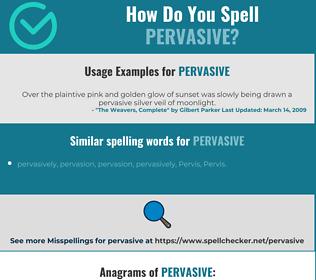 Correct spelling for pervasive